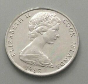 COOK ISLANDS 5 CENTS 1983 DB87 WW