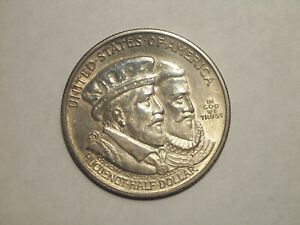 1924 HUGUENOT WALLOON COMMEMORATIVE 90  SILVER HALF DOLLAR