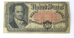 1875 US UNITED STATES 50C FIFTY CENTS FRACTIONAL CURRENCY NOTE 5TH ISSUE   C4C