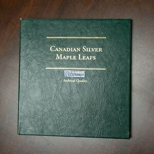 Click now to see the BUY IT NOW Price! 18 CANADIAN SILVER MAPLE LEAFS IN COLLECTION BOOK 1988 2006 1 OZ. .999 BULLION