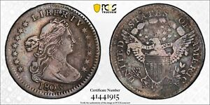 Click now to see the BUY IT NOW Price! 1803 DRAPED BUST SILVER HALF DIME PCGS VF DETAILS LARGE 8 01/05/21 FREE SHIP