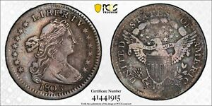 1803 DRAPED BUST SILVER HALF DIME PCGS VF DETAILS LARGE 8 01/05/21 FREE SHIP