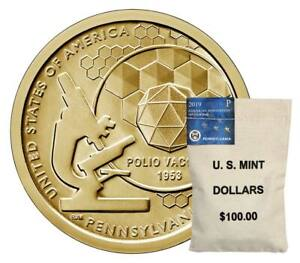 Click now to see the BUY IT NOW Price! P D $100 MINT BAGS 2019 PENNSYLVANIA AMERICAN INNOVATION DOLLARS MINT $200 FACE