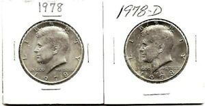 1978 & 1978 D KENNEDY HALF DOLLARS | BOTH ARE UNCIRCULATED D 4