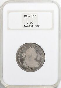 1804 DRAPED BUST QUARTER >NGC G4< SWEET ATTRACTIVE TONING >SUPER FAST SHIPPING