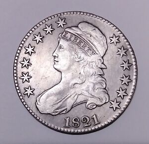 1821 CAPPED BUST HALF DOLLAR AND 1834 CAPPED BUST DIME