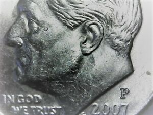 2007 P ROOSEVELT DIME ERROR COIN ROOSEVELT IS CRYING