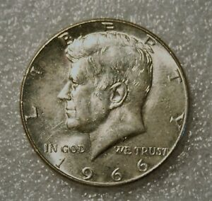 1966 KENNEDY HALF DOLLAR 40  SILVER FROM UNCIRCULATED US MINT ROLL