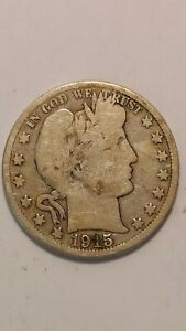 1915 S UNITED STATES BARBER HALF DOLLAR