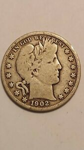 1902 O UNITED STATES BARBER HALF DOLLAR
