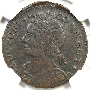 Click now to see the BUY IT NOW Price! 1787 15 R R 7 NGC VF 35 CONNECTICUT COLONIAL COPPER COIN