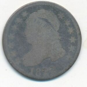 1822 CAPPED BUST SILVER DIME  DATE  CIRCULATED SILVER DIME SHIPS FREE