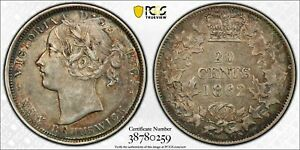 Click now to see the BUY IT NOW Price! NEW BRUNSWICK CANADA 1862 TWENTY CENTS 20 CENTS. PCGS AU 53. 150 000 MINTAGE.
