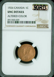 1926 CANADA CENT NGC MAC MS 63 RB 90RD OR 90  RED   ..