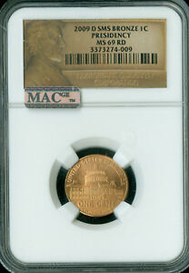 2009 D LINCOLN CENT LOGO PRESIDENCY NGC MS69 RED SMS PQ 95  COPPER  SPOTLESS