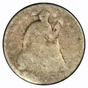 1838 1859 SEATED HALF DIME   NO DATE   STARS DRAPERY TYPE VARIETY PRICED RIGHT