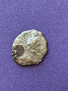 BAKTRIA UNKNOWN GREEK RULES SILVER FRACTION COIN 13 MM