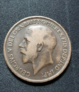 1918 UK GREAT BRITAIN COIN ONE PENNY
