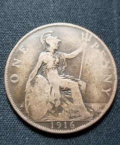 GREAT BRITAIN ONE PENNY 1916 COIN