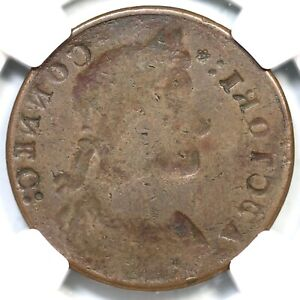 1787  M 31.1  NGC F 12 OBV BROCKAGE CONNECTICUT COLONIAL COPPER COIN