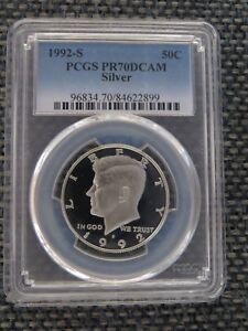 Click now to see the BUY IT NOW Price! 1992 2001 S SILVER TEN 10 COIN RUN KENNEDY JFK HALF DOLLAR PROOF PCGS PR70DCAM
