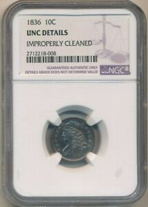 Click now to see the BUY IT NOW Price! 1836 CAPPED BUST SILVER DIME NGC UNC DETAILS BEAUTIFUL COIN  SHIPS FREE