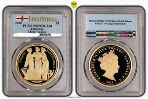 Click now to see the BUY IT NOW Price! 2020 ALDERNEY THREE GRACES GOLD 5 PDS PCGS PR70DC FIRST STRIKE