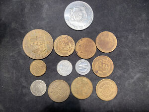 OLD TOKENS COLLECTION  13 ITEMS
