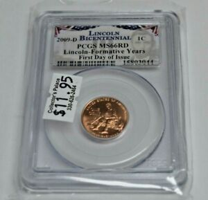 2009 D 1C  PCGS MS66RD LINCOLN PROFESSIONAL BUSINESS STRIKE 1ST DAY ISSUE