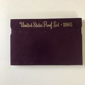 1985   US PROOF SET MINT COINS WITH ORIGINAL UNBROKEN GOVERNMENT PACKAGING