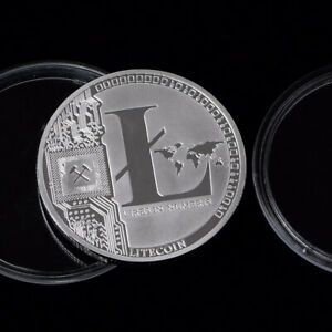 LITECOIN CRYPTOCURRENCY COIN COMMEMORATIVE COLLECTOR SILVER PLATED CURRENCY LTC
