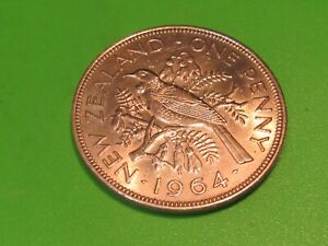 NEW ZEALAND LARGE COPPER 1964   COMBINE SHIPPING AND SAVE $$$$