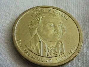 2007 GOLDEN  PRESIDENTIAL DOLLAR   JOHN ADAMS  1797 1801  COIN    .7.8/46