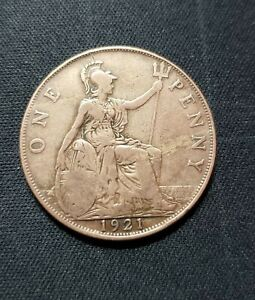 GREAT BRITAIN HALF PENNY COIN 1921
