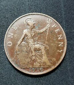 GREAT BRITAIN COIN HALF PENNY 1920