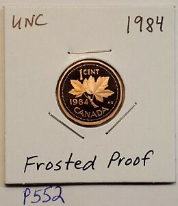 1984 CANADA 1 CENT FROSTED PROOF PENNY UNC P552