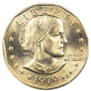 1979D  SUSAN B. ANTHONY DOLLAR COIN.        UNCIRCULATED