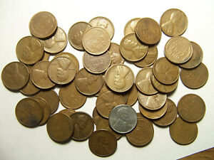 ROLL OF LINCOLN WHEAT CENTS P D 1940'S 1950'S R4