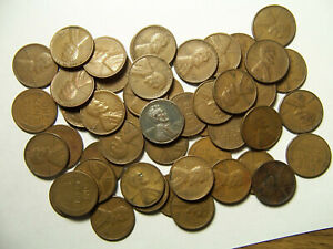 ROLL OF LINCOLN WHEAT CENTS SAN FRANCISCO 1940'S 1950'S