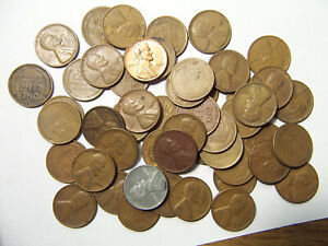 ROLL OF LINCOLN WHEAT CENTS P D 1940'S 1950'S R7