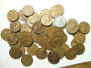 ROLL OF LINCOLN WHEAT CENTS P D 1940'S 1950'S R6