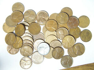 ROLL OF LINCOLN WHEAT CENTS P D 1940'S 1950'S R5