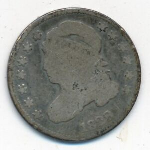 1829 CAPPED BUST SILVER DIME LARGE 10 VARIETY NICE CIRCULATED SHIPS FREE  INV:2