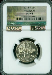 Click now to see the BUY IT NOW Price! 2018 S VOYAGEURS QUARTER NGC MS 68 PQ MAC FINEST REGISTRY POP 3 MAC SPOTLESS