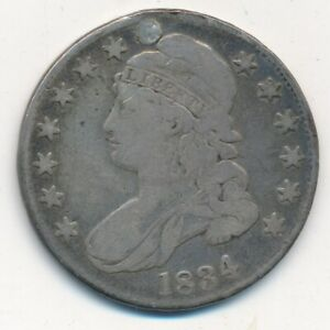 1834 CAPPED BUST SILVER HALF DOLLAR NICE CIRCULATED HALF DOLLAR SHIPS FREE  INV2