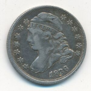 1836 CAPPED BUST SILVER DIME VERY NICE CIRCULATED DIME SHIPS FREE  INV:3