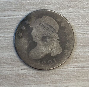 1821 CAPPED BUST DIME AG