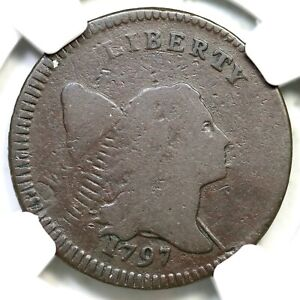 Click now to see the BUY IT NOW Price! 1797 C 3C R 7 NGC VG 8 GR EDGE LOW HEAD LIBERTY CAP HALF CENT COIN 1/2C