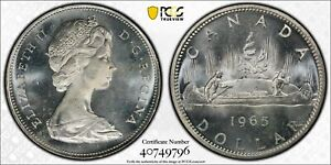 Click now to see the BUY IT NOW Price! CANADA 1965 ELIZABETH II DOLLAR. PCGS MS 65 TYPE 3 LARGE BEADS BLUNT 5.