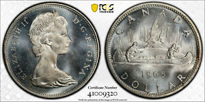 Click now to see the BUY IT NOW Price! CANADA 1965 ELIZABETH II DOLLAR MED BEADS PT 5 TYPE 5. PCGS MS 65.